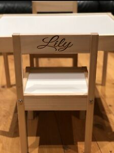 Personalised Kids Children's table and 2 x chairs IKEA LATT table 2 chairs set.