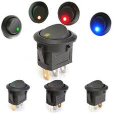 5Pcs 12 V Coche Camioneta Bote Impermeable De Encendido/Apagado Redondo Balancín Interruptor de luz LED de punto