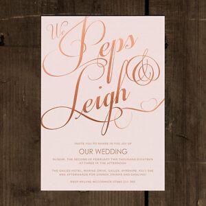 Elegant Classic Wedding Invitation set. Blush pink, mint, gold, calligraphy