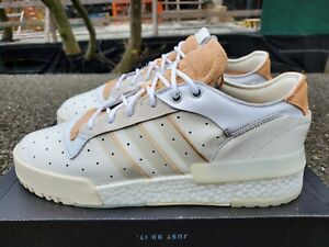 Adidas Rivalry RM Low Boost Sneakers - Cloud White/Glow Orange - Size 11.5