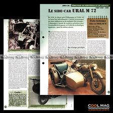 #vm072.06 ★ SIDE-CAR URAL 750 M72 (URSS) 1940-1950 ★ Fiche Véhicule Militaire