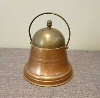 Vintage Brass and Copper Bell Shaped Tobacco Tin (Tobacco Smoking Accessories)