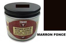 CREME RENOVATEUR CUIR MARRON FONCE AVEL nourrit protège recolore