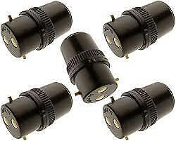 B22 Bayonet Light Adaptor Plug 5 BC Bulb Holder Connector Lamp Socket Extension