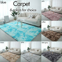 Large Fluffy Rugs Anti-Skid Gradient Color Area Rug Home Living Room Bedroom Mat