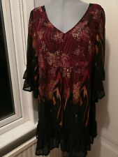 Glamorosa Simply Be Tunic Size 20. Black Fully lined New With Tag Freepost RRP60