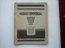 MORRIS COMMERCIAL parts list for the ECV 9 11 13 chassis published 1949