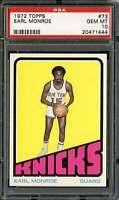 1972-73 TOPPS #73 EARL MONROE PSA 10 KNICKS HOF POP 3  *K3241