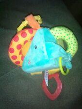 Baby Spielzeug Würfel zum Hören und Fühlen mit Rassel und Knisterfolie