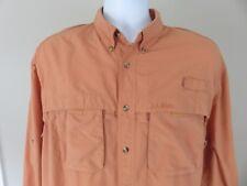 L.L. Bean Men's Orange Button Down LS Vented Outdoors Shirt Size Tall Large