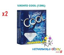 2 x V Rohto COOL Eye Drops Eyestrain Tired Red Itchy Relief - Rohto Mentholatum