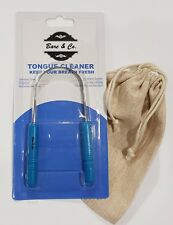 Bare & Co Tongue Cleaner Free Travel Pouch Detoxing Scraper Not Dr Tungs tung's