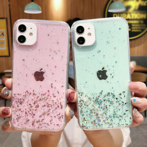 Case For iPhone 12 Mini 12 Pro Max 11 XR XS 7 8 Bling Clear Silicone Phone Cover