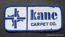 """KANE CARPET EMBROIDERED SEW ON PATCH COMPANY BUSINESS UNIFORM 4 1/2"""" x 2"""""""