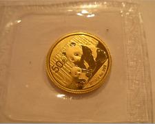 China 2012 Gold 1/10 oz Panda 50 Yuan Original Mint Sealed BU