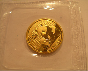 China 2012 Gold 1/10 oz Panda 50 Yuan Original Mint Sealed BU