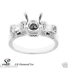 Beautiful Unique Semi Mount Engagement Ring 0.54ct Diamonds in 18k White Gold