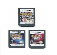Pokemon Platinum+Pearl+Diamond 3PCS Game card For Nintendo NDS DS DSI
