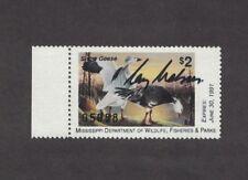 MS15GS - Mississippi  State Duck Stamp.  Governor's  Single. Signed. MNH. OG.