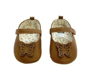 Carter's Mary Jane Butterfly Baby Shoes Size 3-6 Months
