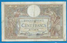 GERTROLEN  Billet 100 FRANCS  Luc Olivier Merson 7-7-1938  A.60053