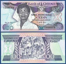 GHANA 100 Cedis 1990  UNC  P.26 b