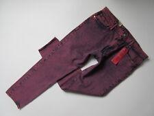 NWT Levi's 512 Slim Taper in Indigo Pink Acid Wash Warp Stretch Jeans 38 x 32