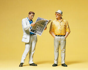 Preiser 45079 Maßstab 1:22,5 Zeitungsleser, Passant  #NEU in OVP