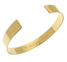 Personalized Gold Cuff Bracelet / Text Engraved Bangle Cuff / Luxury Women Gift
