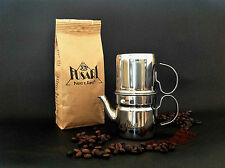 CAFFETTIERA NAPOLETANA 6 tazze ACCIAIO INOX 18/10 FUSARI + 250 g CAFFE' FUSARI
