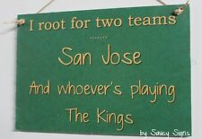 San Jose Sharks versus The Kings Handmade Rustic Hockey Wooden Rustic Sign