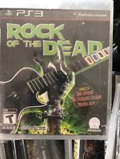 PS3 Rock Of The Dead Video Game multiplayer drum rhythm guitar band rob zombie