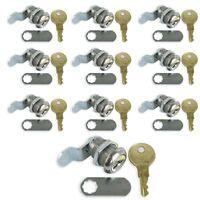 10 Pack Rv Compartment Door Cam Lock 7/8 Inch Camper Trailer Motorhome Storage
