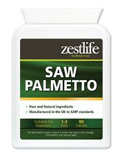 Zestlife Saw Palmetto 90 capsules-treatment for prostate, testosterone,hair loss