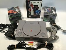 Sony PlayStation 1 Console with 2 Controllers, 17 games Fast Shipping
