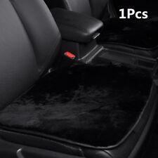 Black Non-slip Base Real Sheepskin Short Wool Car Seat Warm Cover Chair Cushion