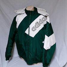 VTG Adidas Winter Coat 90's Parka Spell Out Trefoil Olympic Jacket Team XXL 2XL