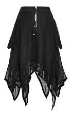 Punk Rave Bat Rok Skirt Zwart Black PQ-149 Gothic Dark Boho Witch Size XS/M