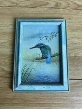 More details for light blue wooden framed kingfisher picture 7
