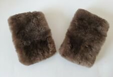 Vintage Brown Fur Cuffs