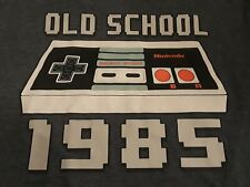 Nintendo shirt 1985 gray SM SMall Old School Video Game Controller T-Shirt
