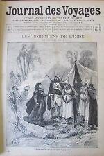 JOURNAL DES VOYAGES N° 863 de 1894 BENJARIS BOHEMIENS INDE AFRIQUE EMIN PACHA