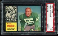 1962 Topps Football #124 MAXIE BAUGHAN Philadelphia Eagles PSA 7 NM