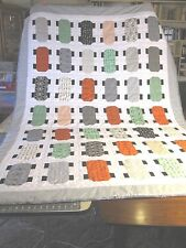 New Handmade Quilt Twin SZ 100% Cotton Skateboard Design Quilt Twin XL NEW