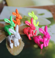 New 1pcs Lovely Cute 3D Rabbit Animal Earrings Ear Stud Alice in Wonderland Hot