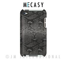 Mecasy Textured Snake Skin Synthetic Leather Case Back Cover for iPod 4th Gen