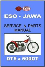 JAWA ESO Workshop AND Parts Manual Speedway DT5 DT500 500 DT 2V Service & Repair