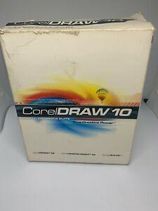 CorelDRAW 10 Boxed Edition - Complete Corel DRAW - 3 Disk Set, Books & Rego Card
