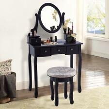 Giantex Vanity Table Set Modern Bedroom Makeup Dresser Table Mirror And Stool