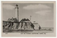 CAP DES ROSIERS LIGHTHOUSE Light House GASPE QUEBEC CANADA RPPC Real Photo RP